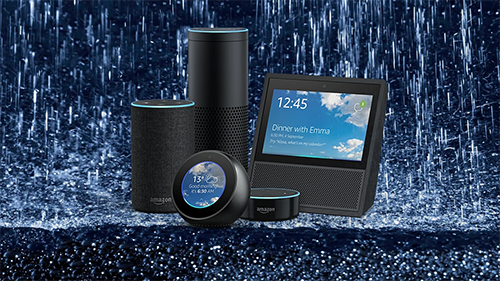 Rain Sounds plays on all Alexa devices.